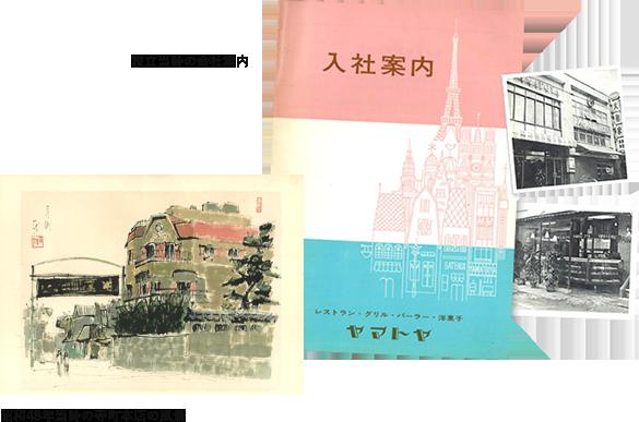 設立当時の会社案内 昭和48年当時の寺町本店の風景